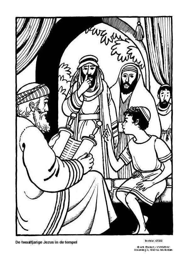 Kleurplaat Kerst Jezus Het Licht Op Ons Pad Materiaal Jezus In De Tempel