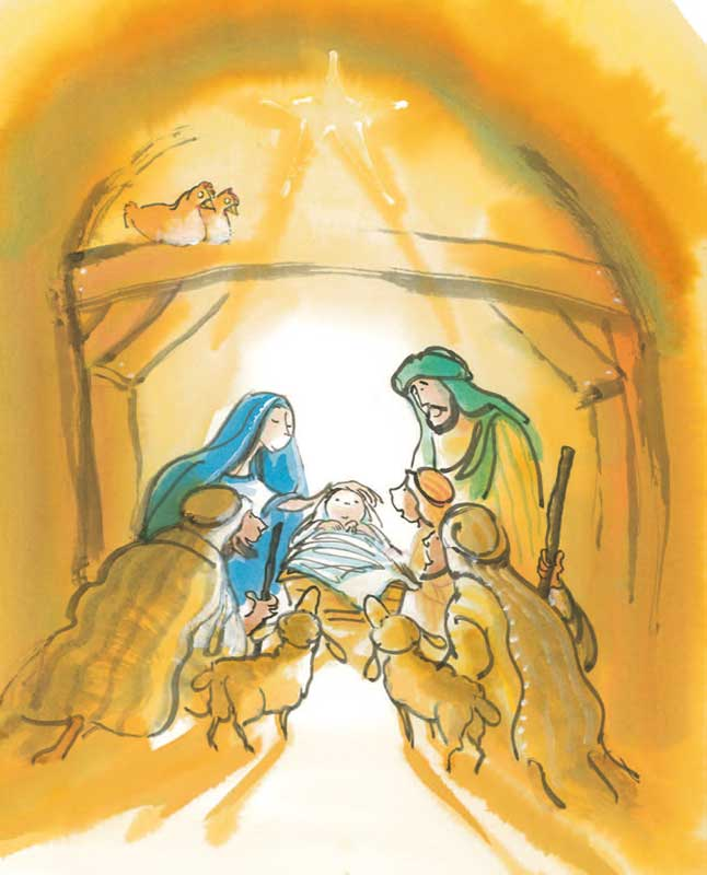 Het Licht Op Ons Pad Materiaal Kerstmis