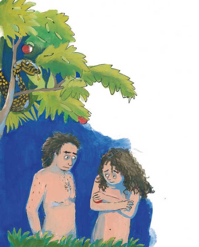 Adam en Eva in het paradijs